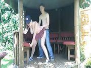 Sesso all'aperto con la mia ragazza
